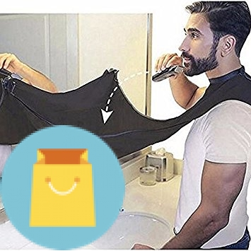 Beard Catcher Apron Beard Cape Bib Beard Catcher Apron Beard Cape Bib and Beard Shaping Tool for Shaving Trim Shave Apron Bib For Men No Mess (white).