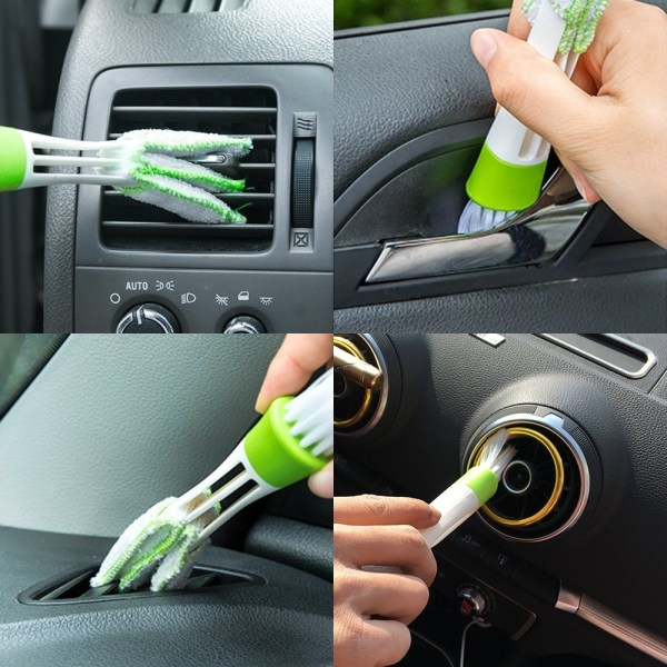 Car Headrest Hooks with Mini Duster for Car Air Vent