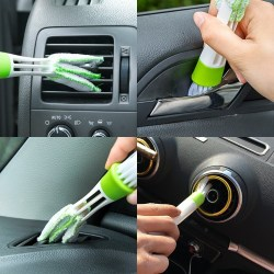 Car Headrest Hooks with Mini Duster for Car Air Vent