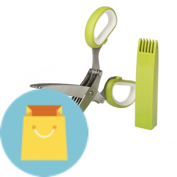 Multipurpose Kitchen Shear with 5 Blades and Cover
