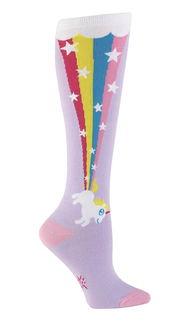 Sock it to Me Women's Rainbow Blast Knee High Socks