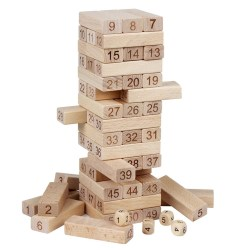 Wooden Building Blocks Set Children Educational Math