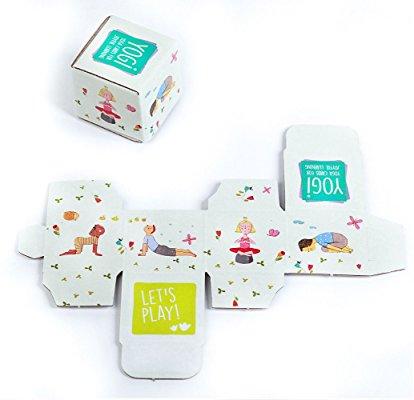 YOGI FUN Kids Yoga Cards Kit with Illustrations, Rhyming Poems