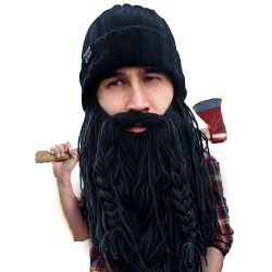 Barbarian Roadie Knit Beard Hat Beard Head - The Original Barbarian Roadie Knit Beard Hat.