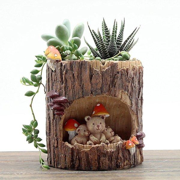 Big Kawaii Animal Resin Flower Pot