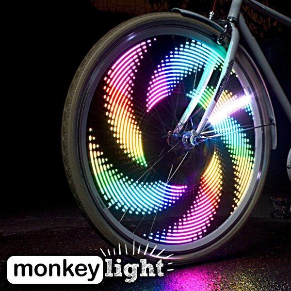 Bike Wheel Light Waterproof Monkey Light M232 - 200 Lumen - Bike Wheel Light - 32 Full Color LED - Waterproof.