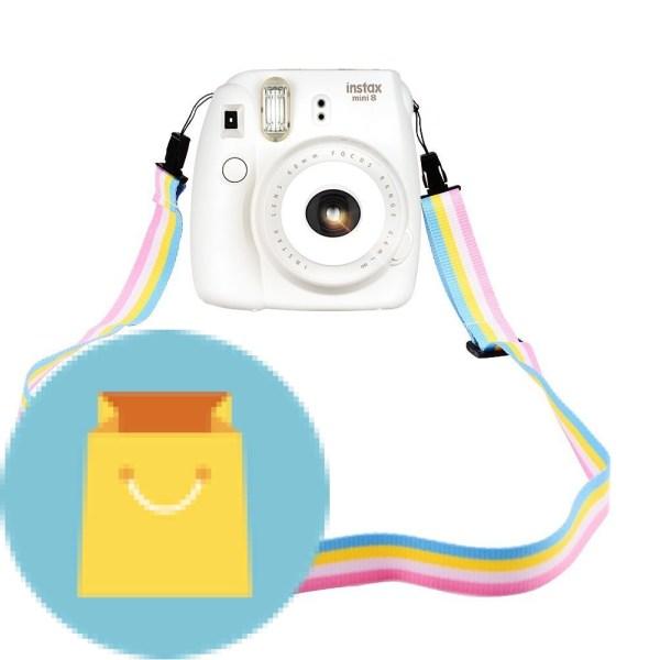Camera Neck Shoulder Strap Belt in Rainbow