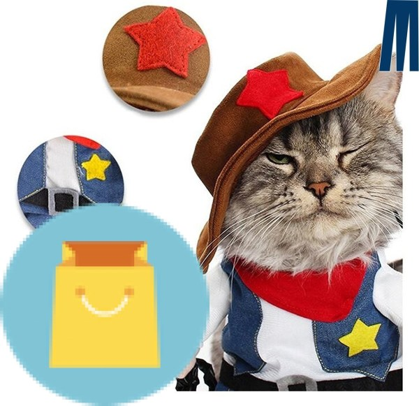 Cowboy Outfit Clothing for dogs and cats