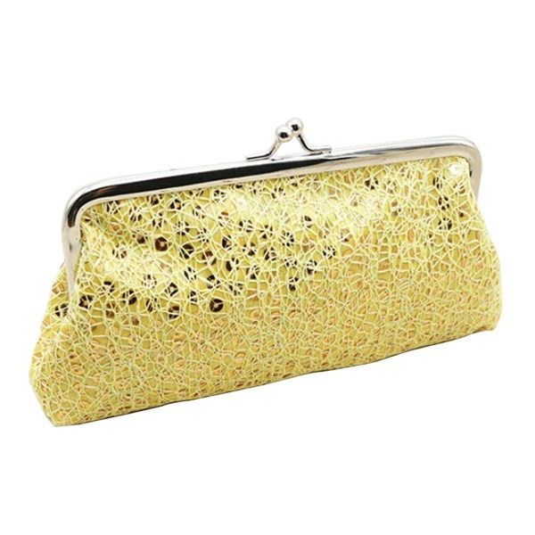 Fengzhicai Women Sequins Buckle Clutch Phone Wallet
