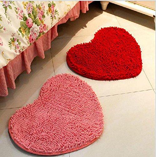Fluffy Doormats Carpet Floor Rugs Heart Shape
