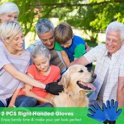Glove-Massage Tool Cleaning Shower, Gentle Deshedding Brush