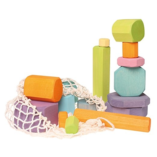 Grimm's Tree Slices - First Wooden Building Blocks Set