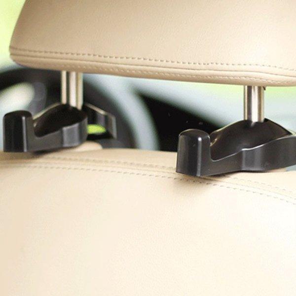 IPELY Universal Car Vehicle Back Seat Headrest Hanger IPELY Universal Car Vehicle Back Seat Headrest Hanger Holder Hook for Bag Purse Cloth Grocery (Black -Set of 2).