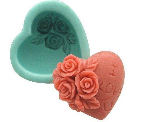 Valentine's Day Rose Heart Decoration Silicone Soap