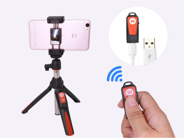 Extendable Monopod Bluetooth Remote Phone Mount