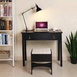 5c8bc47f9dc2d Vanity Set with Flip Top Mirror Makeup Dressing Table Writing Desk ...