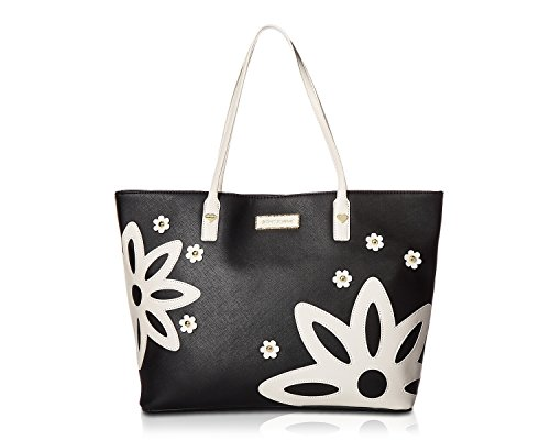 Betsey Johnson Womens 2-in-1 Tote Black One Size