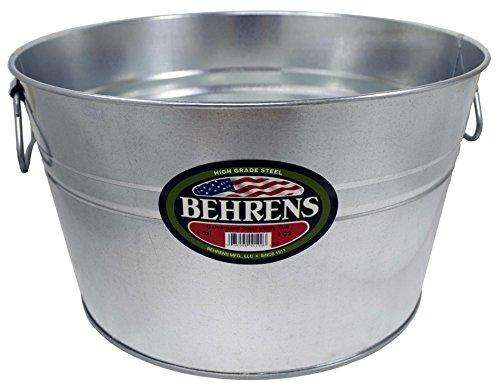 Behrens Galvanized Steel Round Tub, 5 gallon