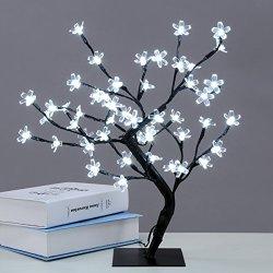 Excelvan Cherry Blossom Desk Top Bonsai Tree Light