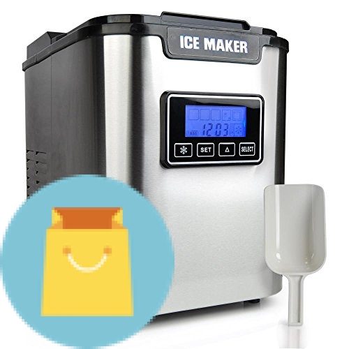 Upgraded NutriChef Portable Digital Ice Maker Machine