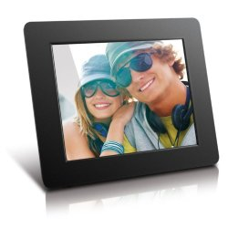 Aluratek 8 Inch Digital Photo Frame - Black