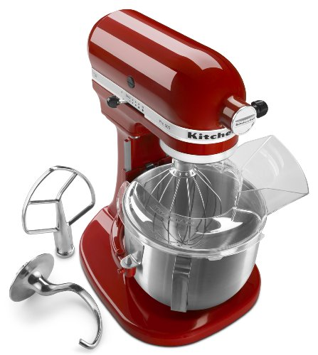 KitchenAid Pro 500 Series 10-Speed 5-Quart Stand Mixer, Empire Red