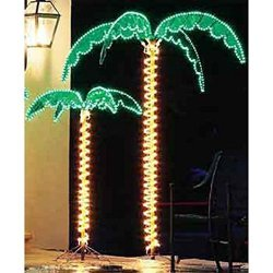"7 Foot High ""SUPER BRIGHT"" LED Lighted Tropical Palm Tree"