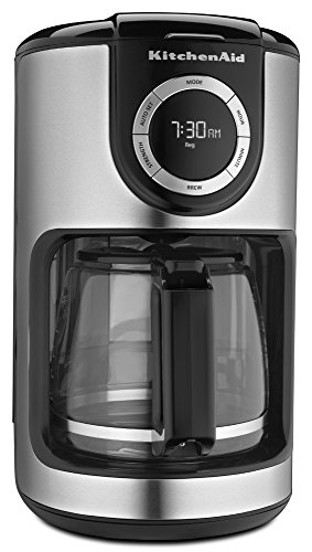 KitchenAid 12-Cup Glass Carafe Coffee Maker - Onyx Black