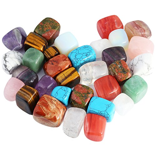 SUNYIK Tumbled Polished Stone, Smooth Rock Crystal