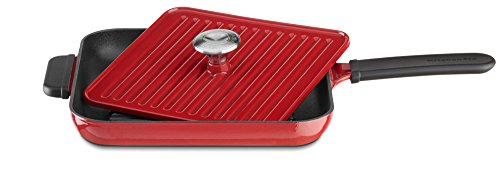 KitchenAid Cast Iron Grill and Panini Press Cookware - Empire Red