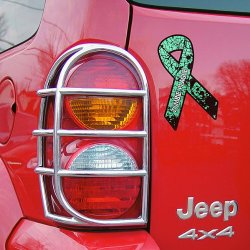Green Zombie Plague Ribbon Car Magnet