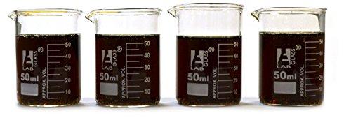 Eisco Labs Beaker Shot Glasses - Lab Quality Borosilicate Glass - Set of 4