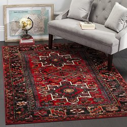 """Safavieh Vintage Hamadan Collection Antiqued Oriental Red and Multi Area Rug (5'3"""" x 7'6"""")"""
