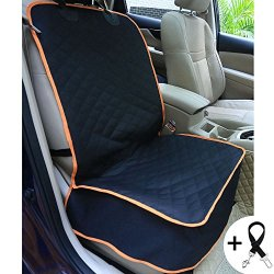 HomePet Supplies Amochien Dog Front Car Seat Cover Waterproof Scratch Proof Nonslip Rubber Backing With Anchors Quilted Padded Machine Washable Pet