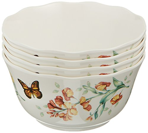 Lenox Butterfly Meadow Melamine All Purpose Bowls (Set of 4), White