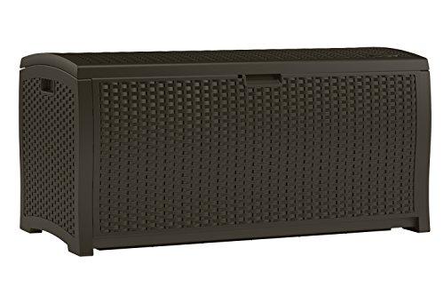 Suncast Mocha Resin Wicker Deck Box