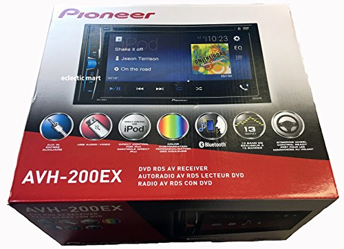 "Pioneer AVH-200EX Multimedia DVD Receiver with 6.2"" WVGA Display"