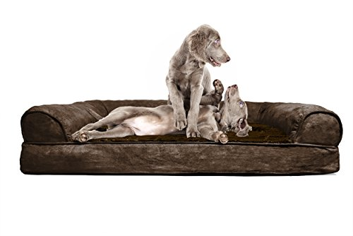 FurHaven Ultra Plush/Velvet Orthopedic Dog Couch Sofa Bed for Dogs and Cats