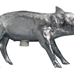 Areaware Bank in The Form of a Pig, Silver Chrome