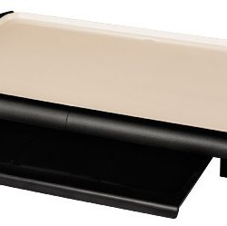 Oster DuraCeramic Griddle with Warming Tray CKSTGRFM18W-ECO, Black/Crème