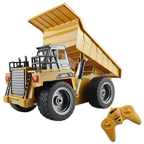 Alloy Remote Control Dump Truck 4 Wheel Driver Mine Construction Vehicle