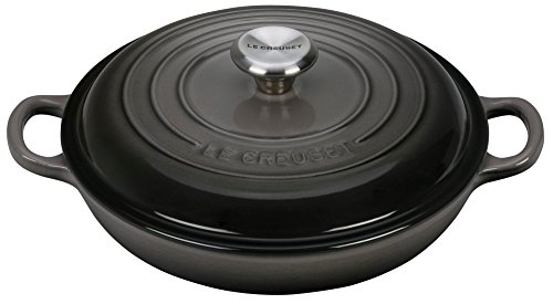 Le Creuset Enameled Cast Iron Signature 1.5QT. Braiser - Oyster