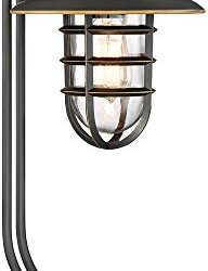 Franklin Iron Works Knox Oil-Rubbed Bronze Lantern Desk Lamp