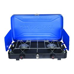 Stansport 2 Burner Propane Camp Stove, 20, 000 B.T.U.'S - Blue