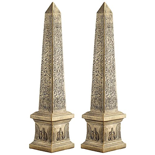 Design Toscano Golden Obelisk of Ancient Egypt Statue