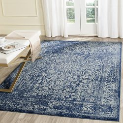 "Safavieh Evoke Collection Vintage Oriental Navy and Ivory Area Rug (6'7"" x 9')"
