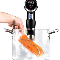 Chefman Programmable Digital Touch Screen Display Sous Vide Immersion Circulator, Handheld, Black