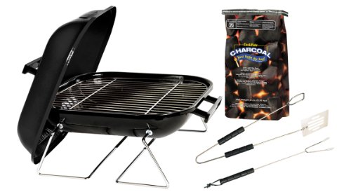 Marsh Allen Grill-It-Kit 14-Inch Tabletop Charcoal Gril