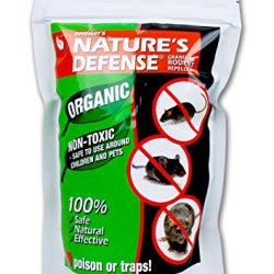 Bird-X Nature's Defense Organic Mouse and Rat Repellent, 22-Ounce, Covers 3,500 sq. ft.