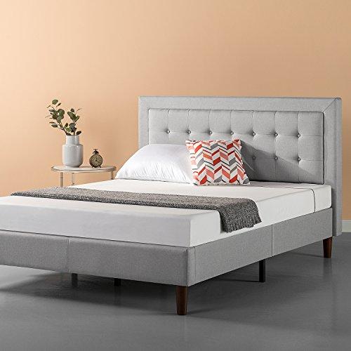 Zinus Upholstered Button Tufted Premium Platform Bed